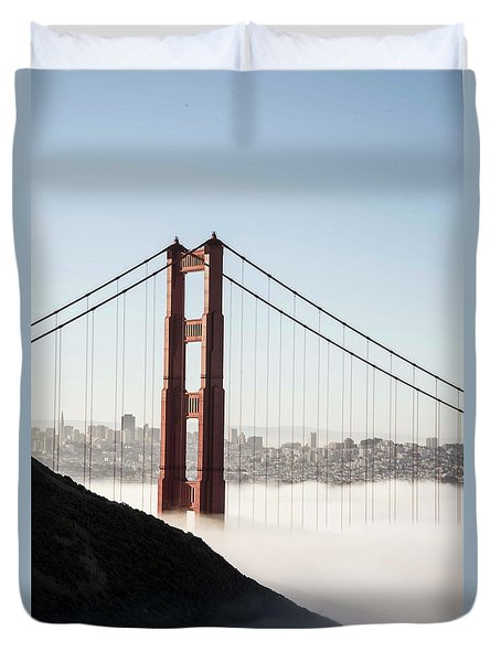 Duvet Cover featuring the photograph Golden Gate And Marin Highlands by David Bearden