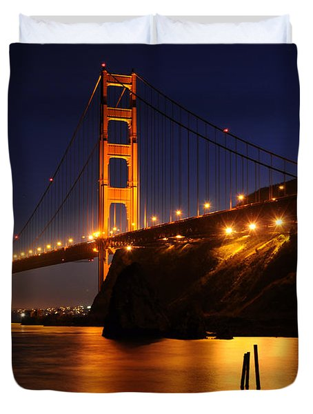 Duvet Cover featuring the photograph Golden Gate Bridge 1 by Vivian Christopher
