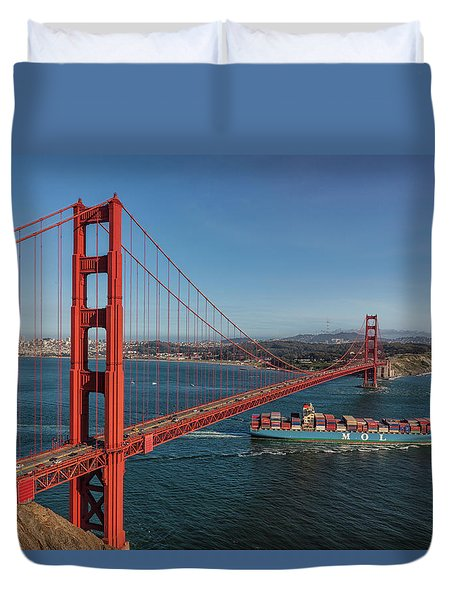Golden Gate Bridge Duvet Cover by David Cote