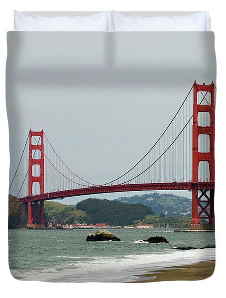 Golden Gate Bridge From Baker Beach Duvet Cover