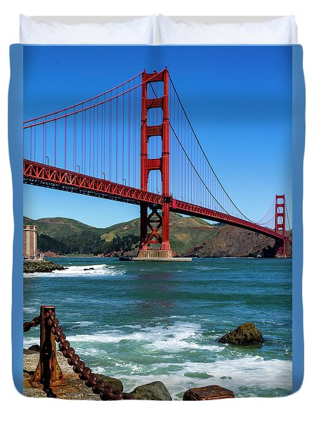 Golden Gate Bridge From Fort Point Duvet Cover
