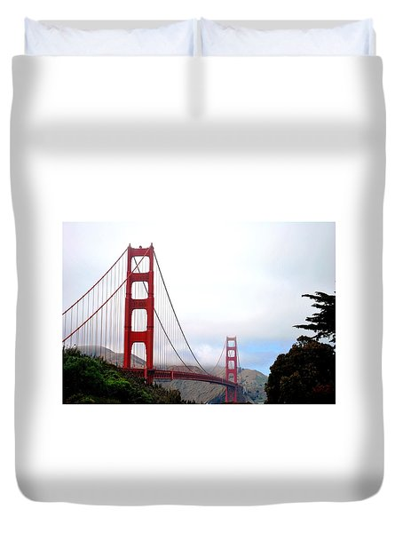 Golden Gate Bridge Full View Duvet Cover