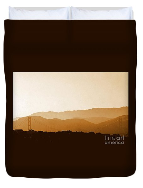 Golden Gate Bridge In San Francisco California Duvet Cover by Michael Hoard