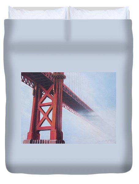 Golden Gate Bridge Duvet Cover by Kean Butterfield