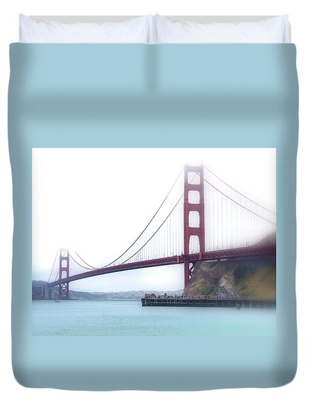 Golden Gate Bridge Duvet Cover by Laura DAddona