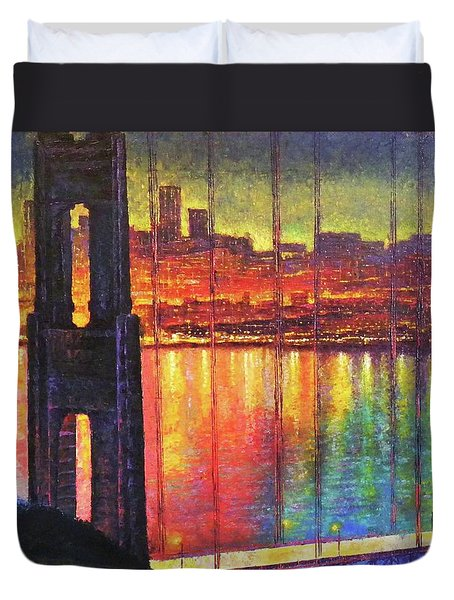 Golden Gate Bridge Duvet Cover by Raffi Jacobian