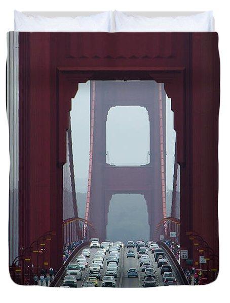 Golden Gate Bridge, San Francisco Duvet Cover
