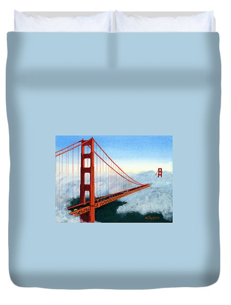 Golden Gate Bridge Sunset Duvet Cover