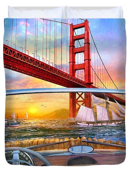 Golden Gate Car Duvet Cover