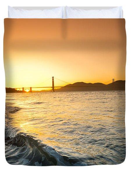 Golden Gate Curl Duvet Cover