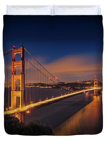 Golden Gate Duvet Cover by Edgars Erglis
