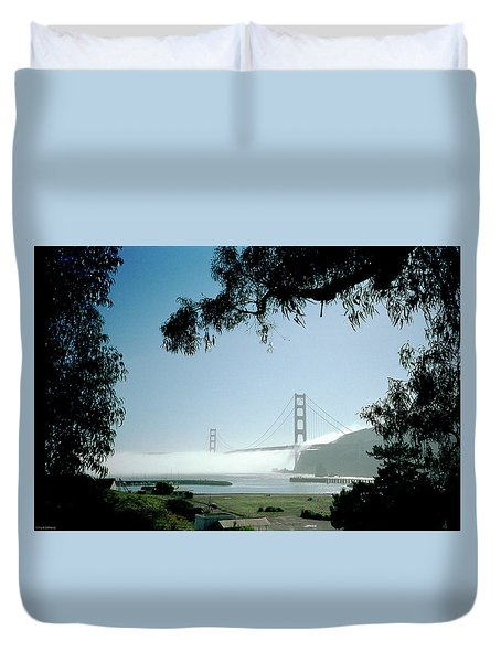 Golden Gate Fog  Duvet Cover