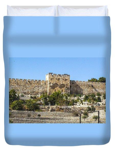 Golden Gate Jerusalem Israel Duvet Cover