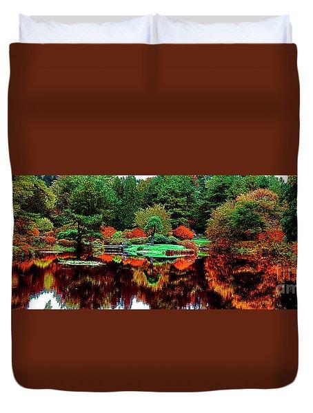 Golden Gate Park In San Francisco Japanese Garden Duvet Cover