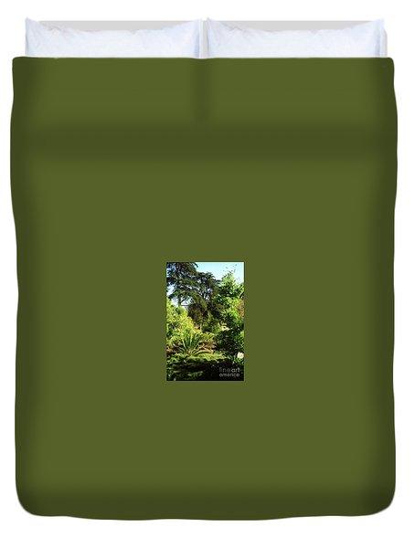 Golden Gate Park Plants Duvet Cover