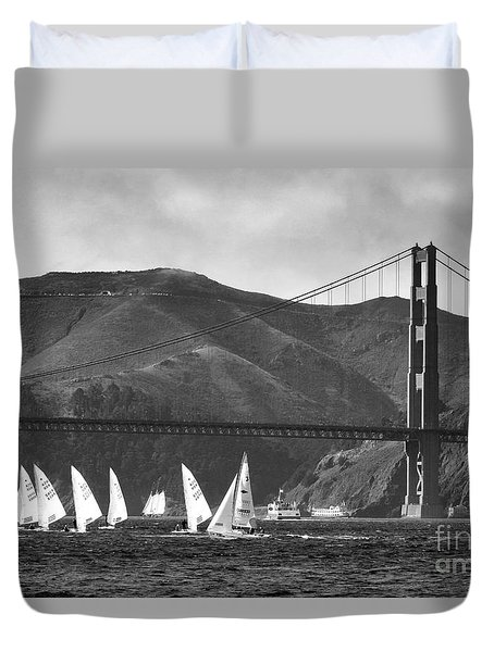 Golden Gate Seascape Duvet Cover by Scott Cameron