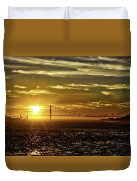 Golden Gate Sunset Duvet Cover