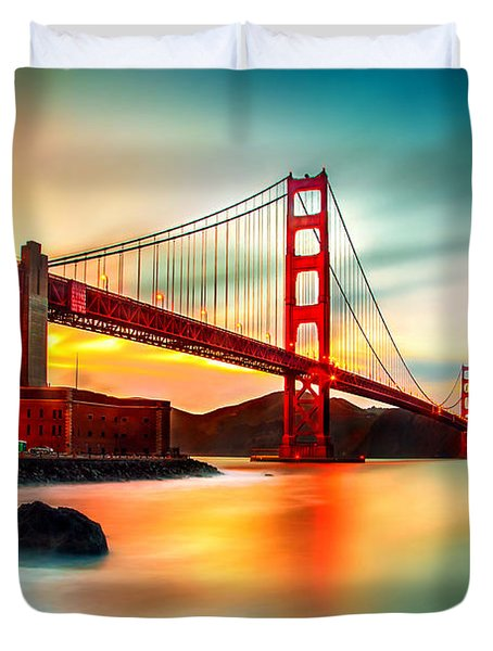 Golden Gateway Duvet Cover
