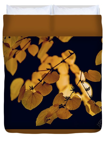Duvet Cover featuring the photograph Golden by Gene Garnace