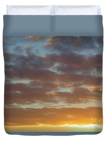 Golden Glow Florida Sunset. Duvet Cover