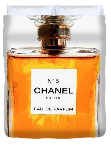 Golden Glow Of Chanel No. 5 Duvet Cover