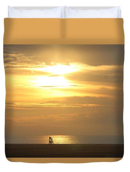 Duvet Cover featuring the photograph Golden Glow by Robert Banach
