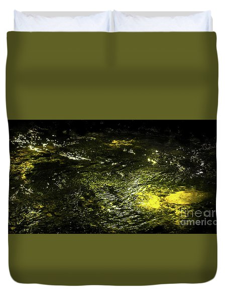 Duvet Cover featuring the photograph Golden Glow by Tatsuya Atarashi