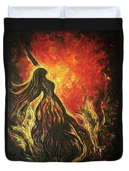 Golden Goddess Duvet Cover