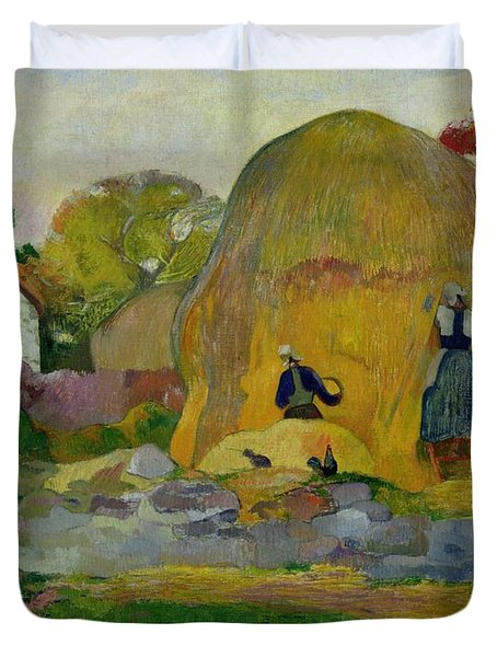 Golden Harvest Duvet Cover by Paul Gauguin