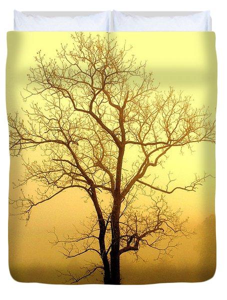 Golden Haze Duvet Cover by Marty Koch