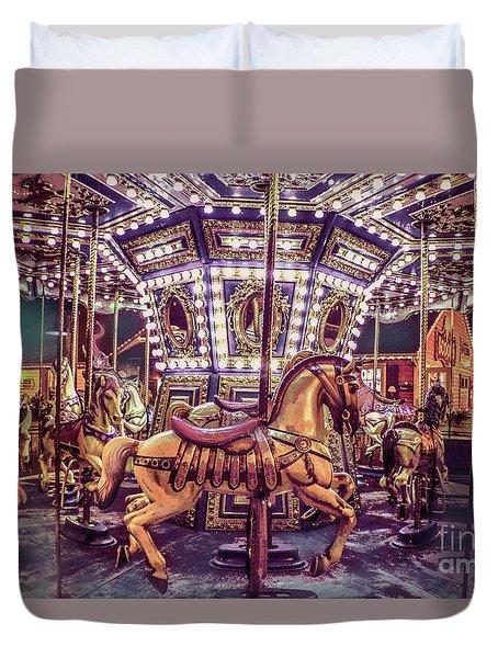 Golden Hobby Horse Duvet Cover