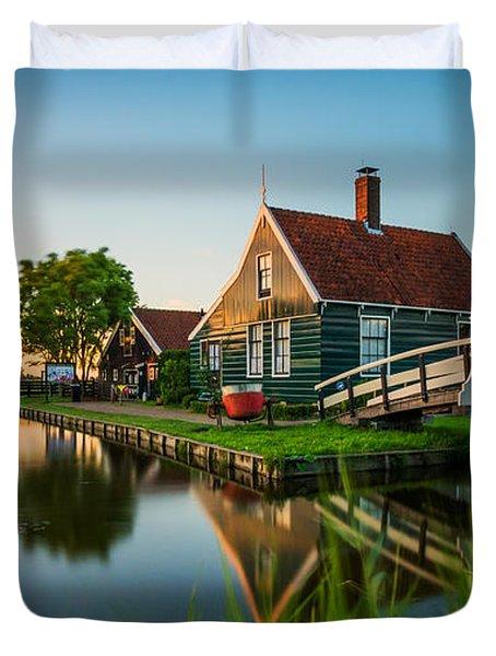 Golden Hour @ Zaanse Schans Duvet Cover