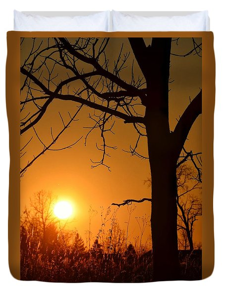 Golden Hour Daydreams Duvet Cover