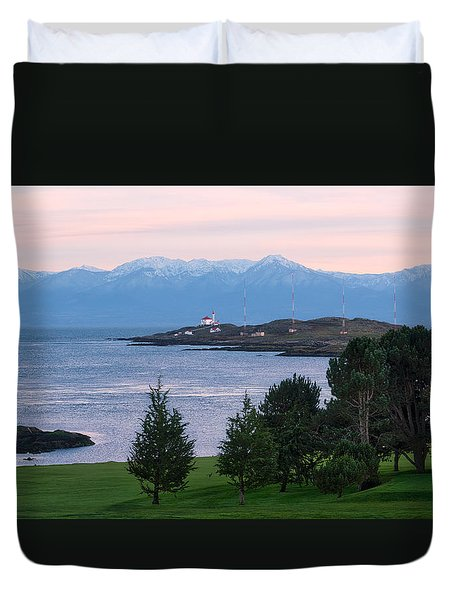Trial Island Sunset Duvet Cover