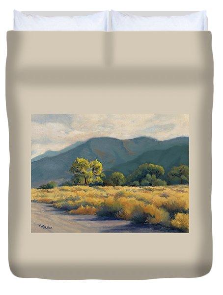 Golden Hour In Owen's Valley Duvet Cover
