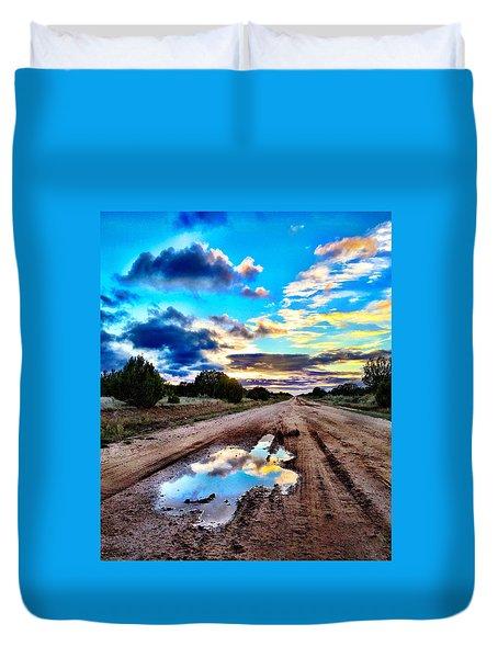 Golden Hour Pool Duvet Cover