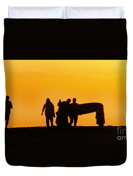 Duvet Cover featuring the photograph The Golden Hour by Rhonda Strickland