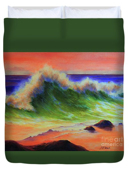 Golden Hour Sea Duvet Cover