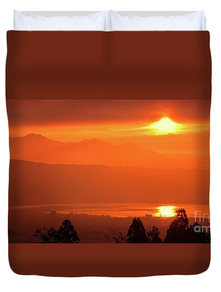 Duvet Cover featuring the photograph Golden Hour by Tatsuya Atarashi