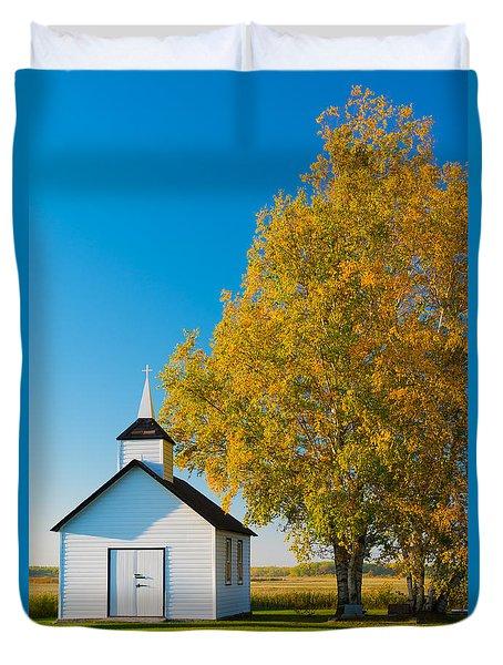 Golden In Autumn Duvet Cover