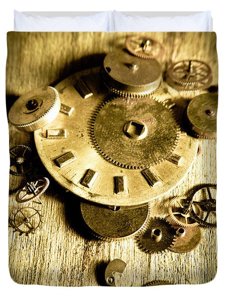 Golden Industry Gears  Duvet Cover