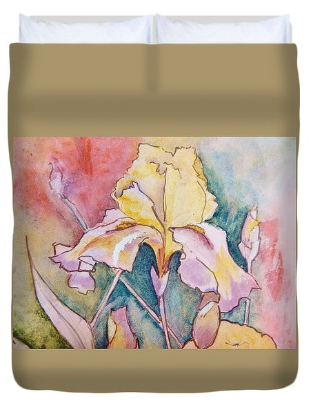 Golden Iris Duvet Cover