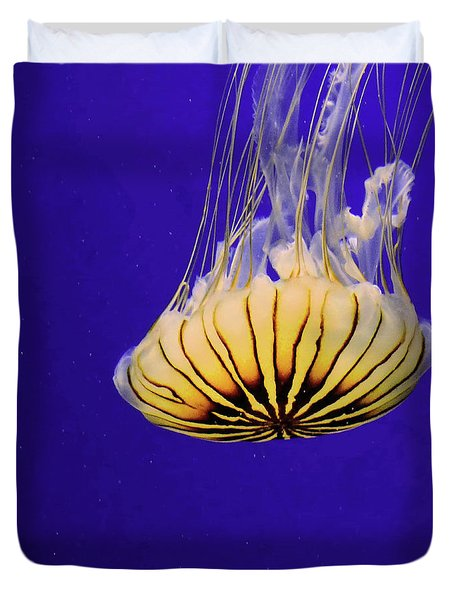 Golden Jellyfish Duvet Cover
