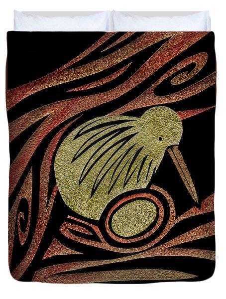 Golden Kiwi Duvet Cover