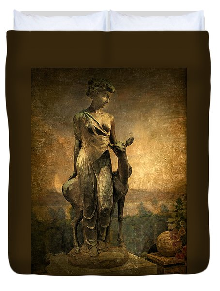 Golden Lady Duvet Cover