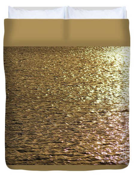 Golden Lake Duvet Cover