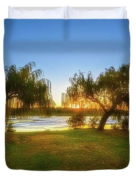 Duvet Cover featuring the photograph Golden Lake, Yanchep National Park by Dave Catley