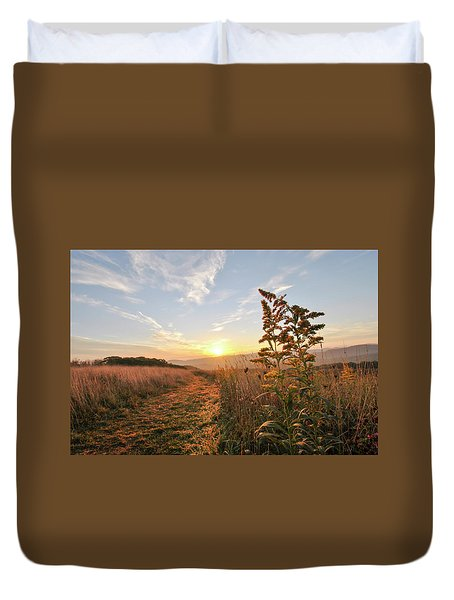 Golden Landscape Duvet Cover