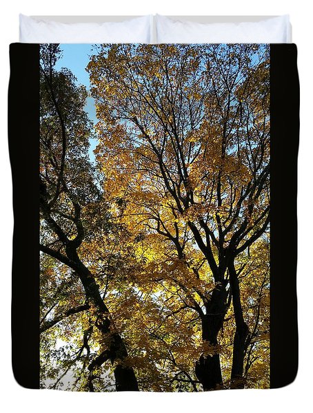 Golden Fall Duvet Cover