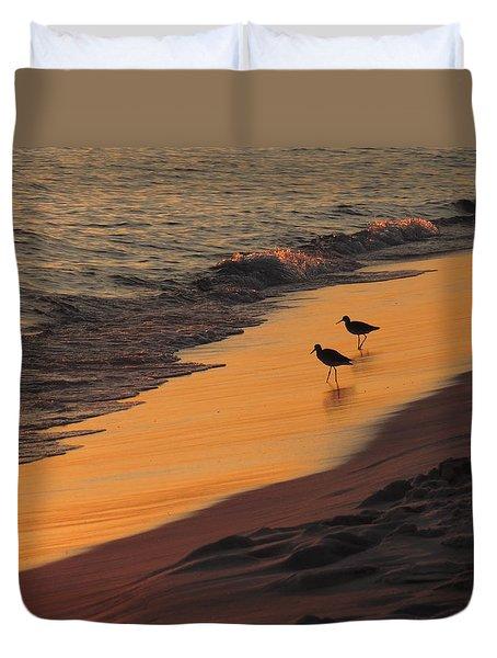 Golden Light At Sunset Duvet Cover by Teresa Schomig